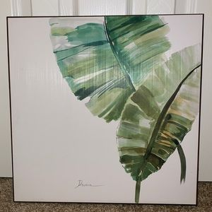 Simple Leaf Painting on Wood